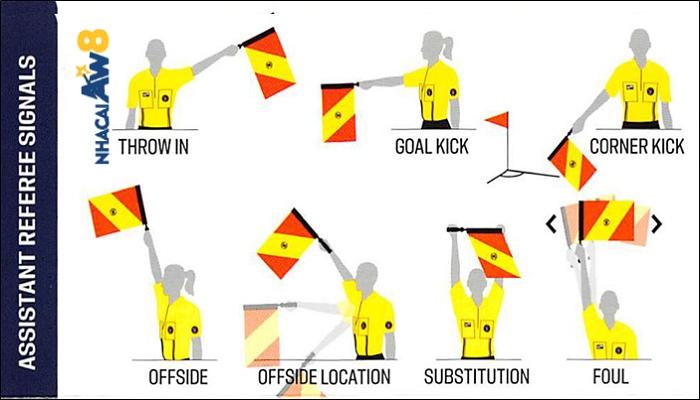 ký hiệu trọng tài bóng đá