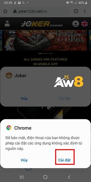 ứng dụng cá cược aw8